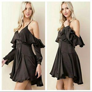 Dresses & Skirts - Hi low olive cami dress